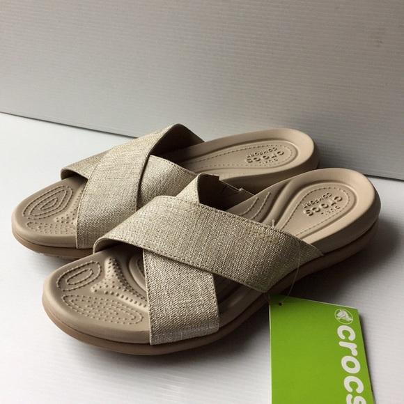 67d2febbdf95 Crocs Capri Shimmer X Band Sandals